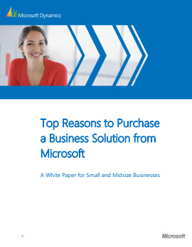 Top Reasons to Purchase a Business Solution from Microsoft