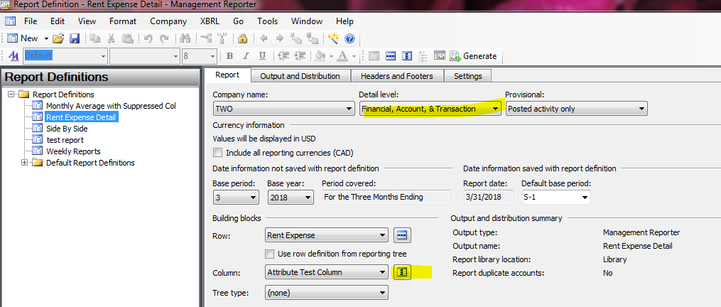 How to set up Attribute Reporting in Dynamics GP Management