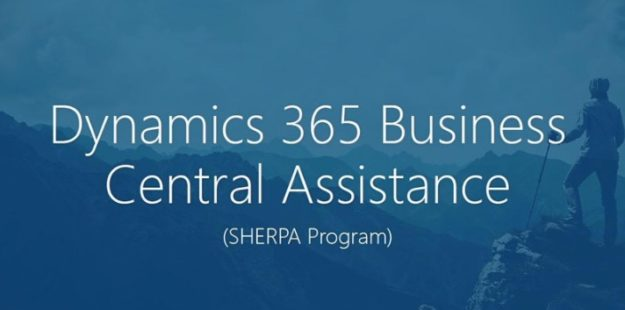Dynamics 365 Business Central Sherpa Program