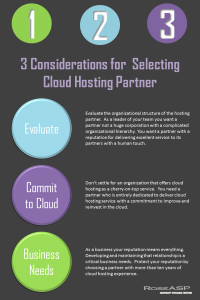 3 considerations for selecting hosting partners
