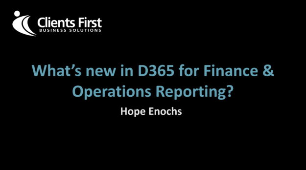 What's New in Dynamics 365 Enterprise Reporting