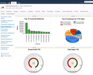 Reporting Dashboard in Microsoft Dynamics GP
