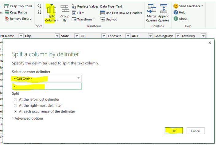 Split a Column by delimiter - ERP Software Blog