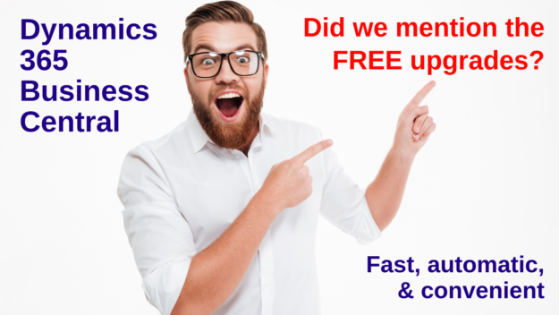 Free upgrades with Dynamics 365 Business Central: fast, automatic. and convenient