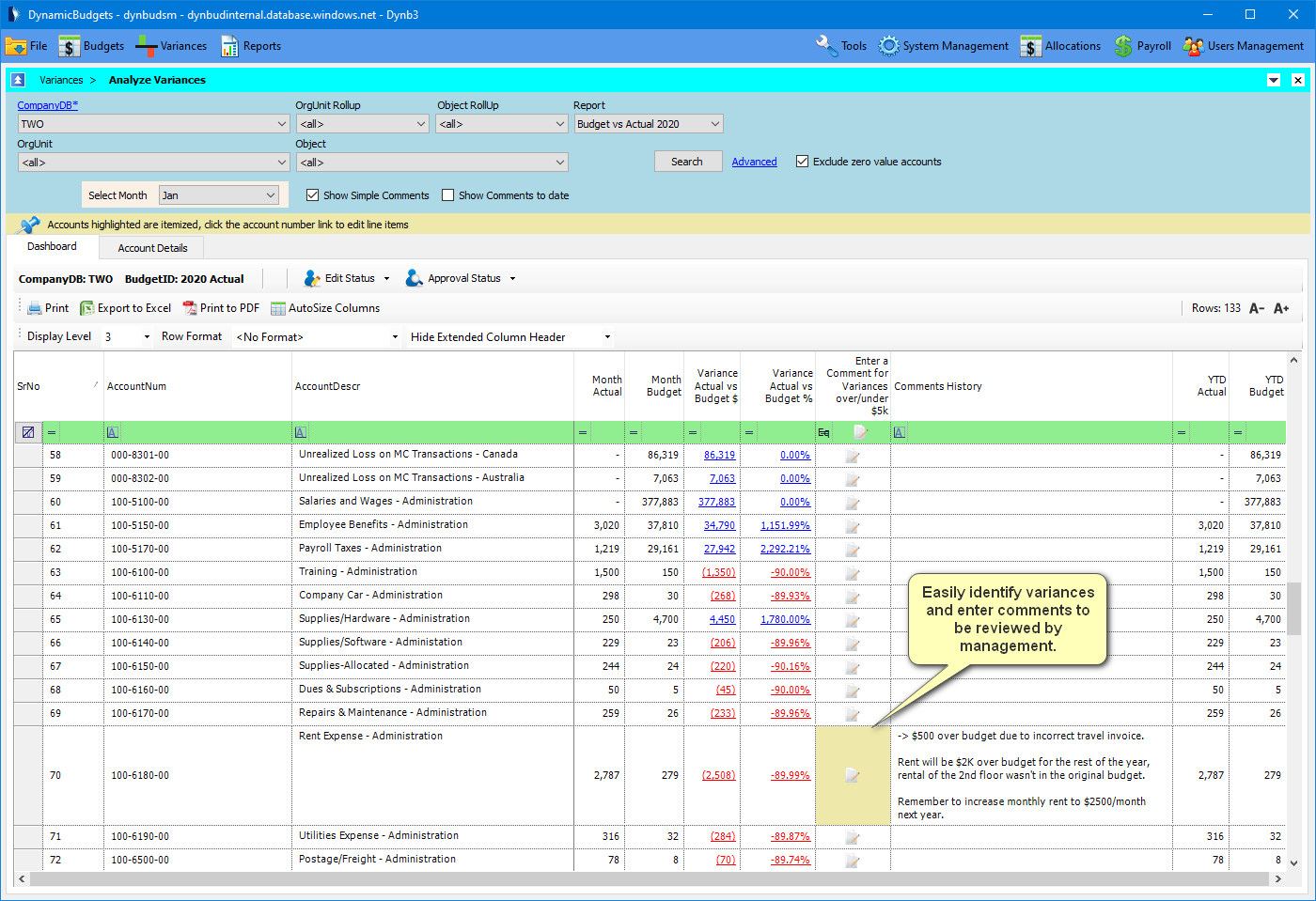 budgeting solution for Dynamics GP