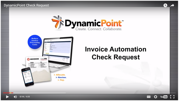 DynamicPoint Invoice Automation Check Requests