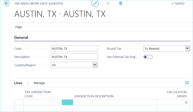 Set up Taxes in Dynamics 365
