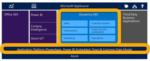 Microsoft Dynamics 365 Overview Chart