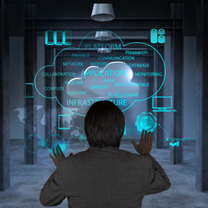 man using the cloud for Dynamics GP