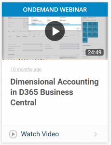 OnDemand Webinar: Dimensional Accounting in D365 Business Central