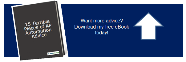 Download free eBook: 15 Terrible Pieces of AP Automation Advice