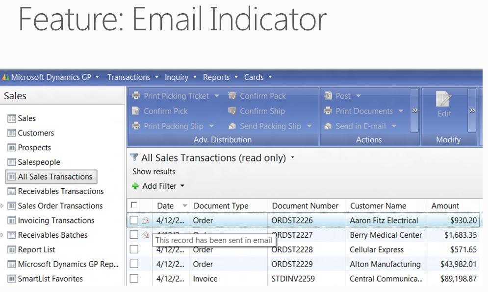Email indicator