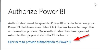 Authorize Power BI