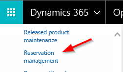 Dynamics 365 reservation management