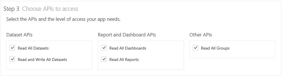 Grant Access to Power BI APIs