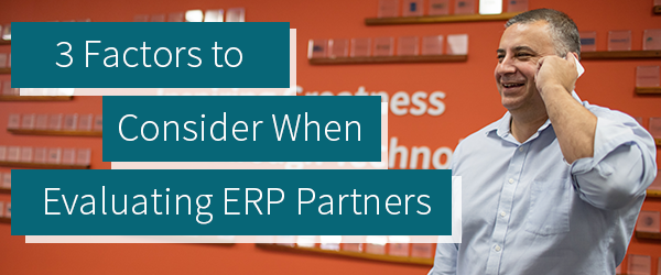 Evaluating ERP Partners