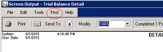 Find function in Dynamics GP