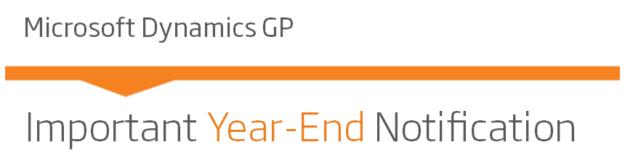 Dynamics GP Year-End Changes
