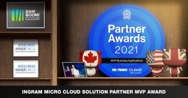 Bam Boom Cloud win Ingram Partner Awards MVP Business Applications