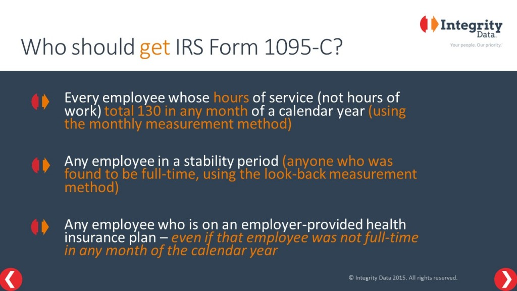 Integrity Data ACA Compliance Solution_Who should get a 1095-C