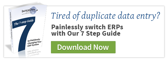Painlessly switch ERP