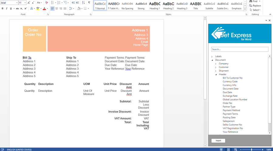 microsoft word invoice template 2015