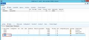 Dynamics AX Service Items on Bills of Material