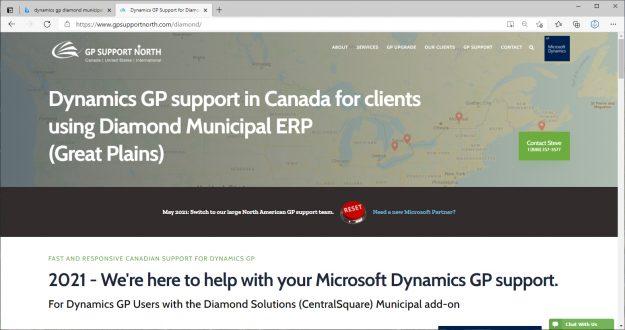 May 2021 Diamond Municipal Canada webpage