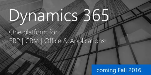 Is microsoft dynamics 365 one platform for erp crm office amp apps