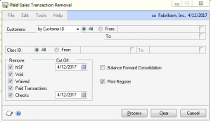 Paid Sales Transaction Removal in Dynamics GP