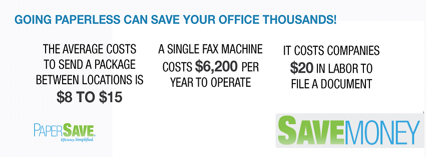 Going paperless can save your office thousands!