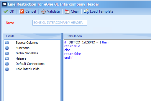 GL Intercompany Integration Restrictions For InterCompany Node