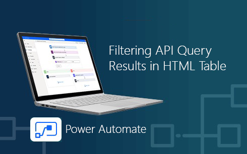 Microsoft Dynamics 365 Business Central and Power Automate — Filtering API Query Results in HTML Table