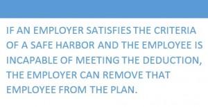 Safe harbor text block
