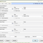 Search Accounts in Dynamics GP