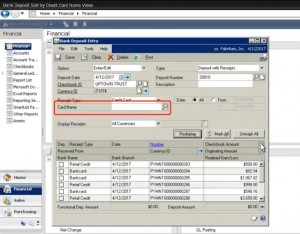 Sorting Your Bank Deposits by credit card in Microsoft Dynamics GP