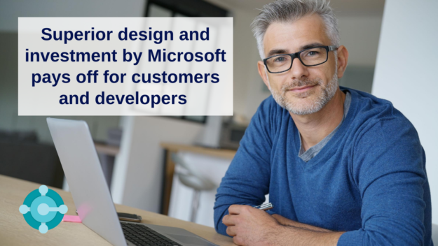 Superior design and investment by Microsoft pays off for customers and developers