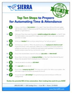 10 Steps to Prepare for Automating Time and Attendance