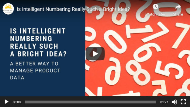 video intelligent numbers for product management in ERP