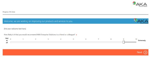 Microsoft Dynamics 365 Survey Feature Screenshot