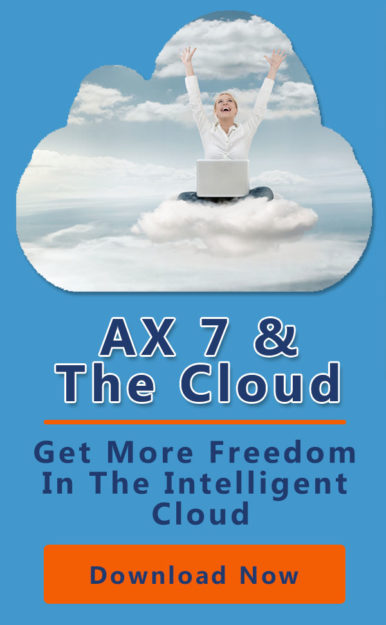 AX7 & the cloud fits manufactureings needs