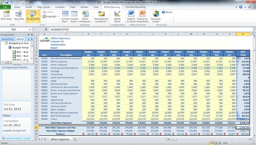Budgeting Software