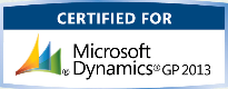 Certified for Microsoft Dynamics GP 2013