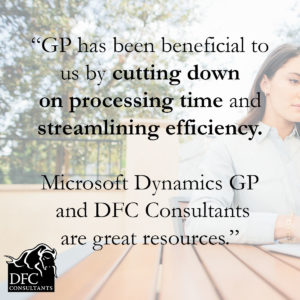 Streamline efficiency with Microsoft Dynamics GP