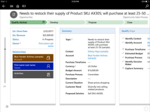 Microsoft Dynamics 365 Mobile Features Detail