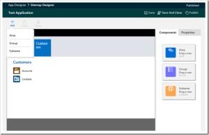 Microsoft Dynamics 365 Sitemap Module