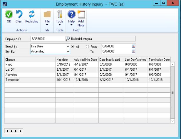 HR Payroll Microsoft dynamics gp