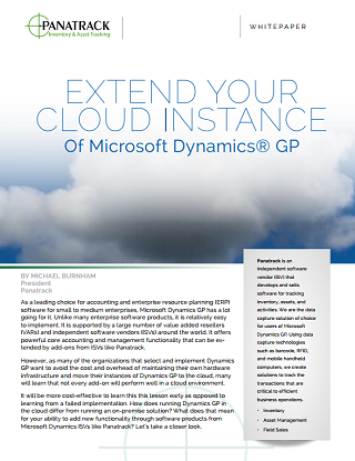 Extending Microsoft Dynamics GP in the Cloud
