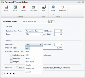 Payment Term Set Up in Microsoft Dynamics GP