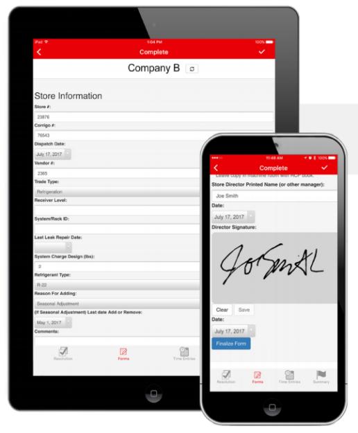 Form, a MobileTech Integration